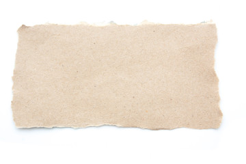 Empty blank recycle paper tear paper