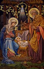 Fototapete - The Nativity (mosaic)