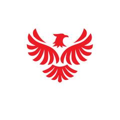 Eagle bird Logo design vector template. Flying Hawk, Phoenix Logotype concept icon