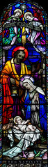 Wall Mural - The Nativity in stained glass