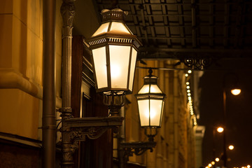 Old style street light, vintage