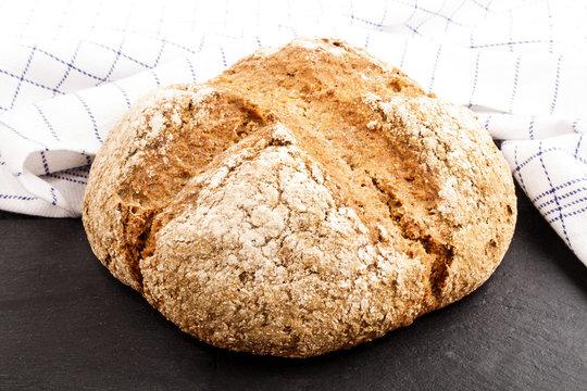 warm, freshly baked irish soda bread