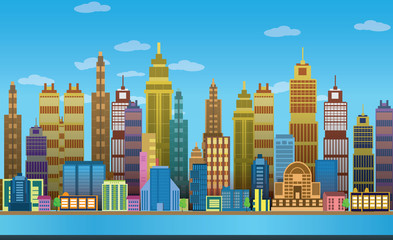 City Game Backgrounds with  ,2d game application. Vector Illustration for your application , project.