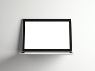 Opened modern laptop. 3d rendering