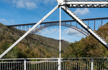Fototapete - Old and New River Gorge Bridges in West Virginia