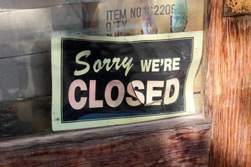 Sorry we are closed / Saint Elmo (Colorado - USA)