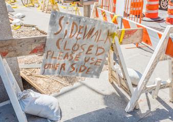 Fußweg-Baustelle in New York