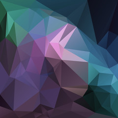 vector abstract irregular polygon background with a triangular pattern in purple, violet, blue, green multi colors