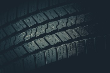 Car Tire Tread Closeup