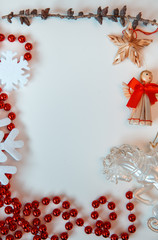 decorated christmas on white background