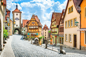 Medieval town of Rothenburg ob der Tauber, Bavaria, Germany Wall mural
