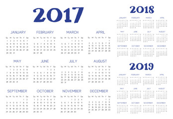 English calendar vector