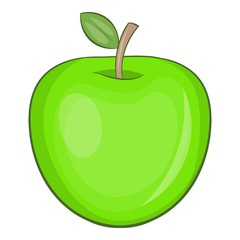 Apple icon. Cartoon illustration of apple vector icon for web