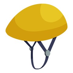 Bicycle protective helmet icon. Isometric illustration of helmet vector icon for web design