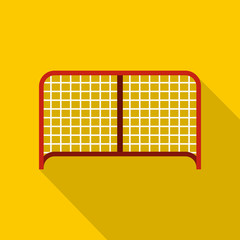 Hockey gate icon. Flat illustration of hockey gate vector icon for web design