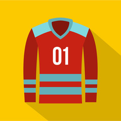 Hockey t-shirt icon. Flat illustration of hockey t-shirt vector icon for web design
