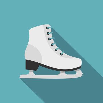 Skates icon. Flat illustration of skates vector icon for web design