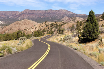 Open Road Two Lane Highway USA Transportation North America