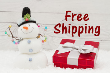 Free Shipping message