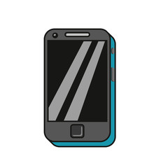 mobile phone in cartoon style isolated on white. vector