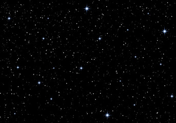 Beautiful stars in the night sky