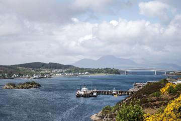 Isle of Sky Scotland UK Panorama View Sea bridge 2
