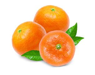 Tangerine isolated on white