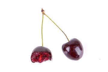 Cherry isolated on a white background