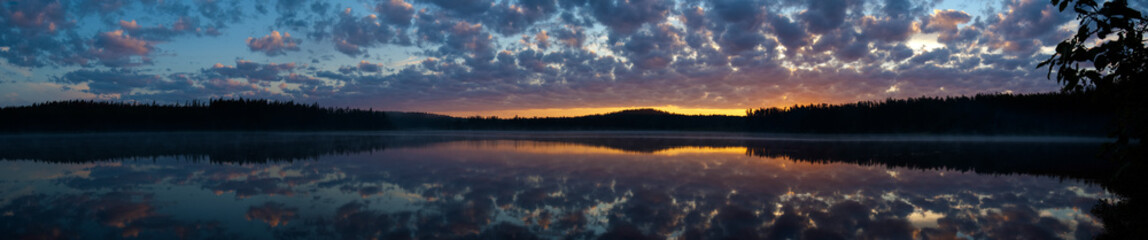 panoramic sunset on Lake
