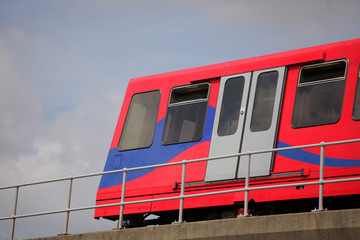 London DLR train