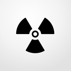 radioactive danger icon. flat design