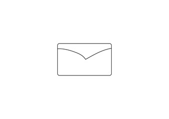 Cute Envelope Mail Icon and simple isolated with white