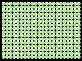 Fundo de mosaico de círculos de olhos verdes