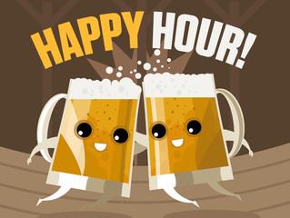 happy hour cute beer mugs