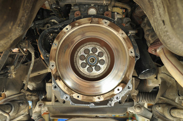 Old clutch of the mini-truck engine, repair part