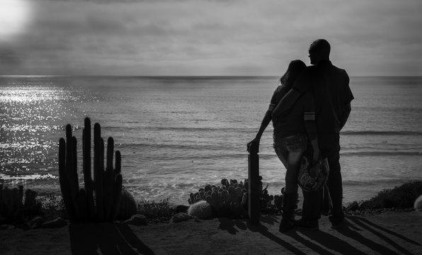 Couple, Beach Sunset