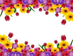 Purple spring flowers border vertical photos royalty free images tropical flower border frame mightylinksfo