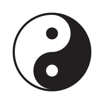 Yin yang symbol vector icon