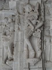 Beautiful naked apsara dancing girl