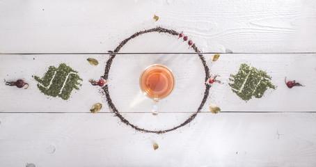 hot tea with rosehip