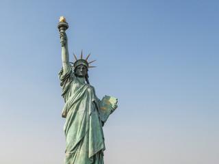 Statue of Liberty in Odaiba, Tokyo, Japan.