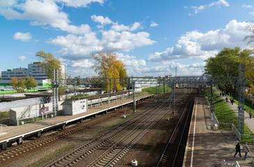 Nati station of Octyabrskaya railway in Moscow, Russia