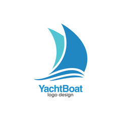 Yacht Boat Creative Concept Logo Design Template