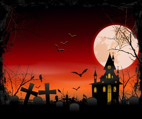 Spooky Halloween background for you design