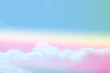 abstract soft sky cloud with gradient pastel vintage color for backdrop background use
