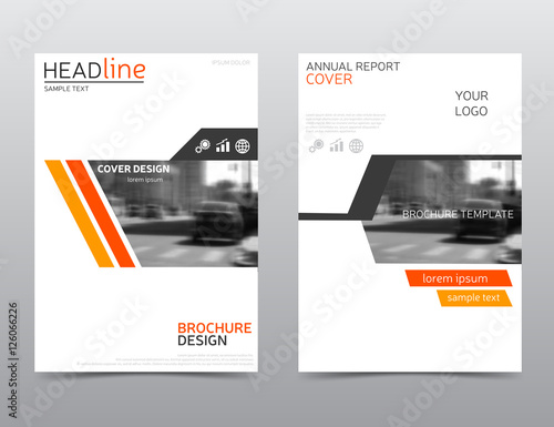 orange annual report cover brochure design leaflet layout modern
