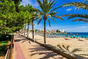Majorca Spain Coast Beach Seafront of Magaluf Wall mural