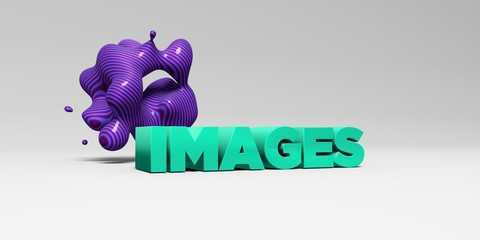 IMAGES -  color type on white studiobackground with design element - 3D rendered royalty free stock picture. This image can be used for an online website banner ad or a print postcard.