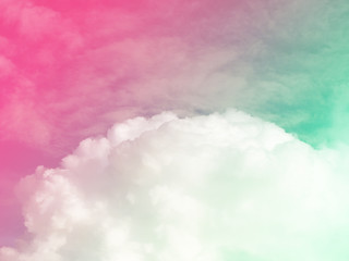 Blur soft sky cloud in pastel vitage color style for background