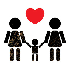 lesbian family with kid